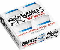 Bones Skateboard Truck Bushings Hardcore Soft 81A White - For 2 Trucks