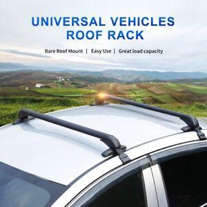 Aluminum Top Roof Rack Rails Cross Bars Luggage For Mazda Acura Nissan Toyota