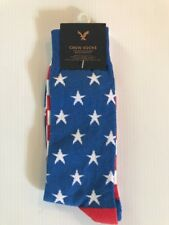 NWT Men's American Eagle AE Crew Socks Red White Blue Stars Stripes Independence