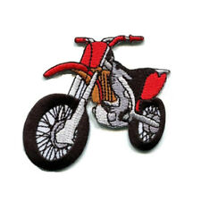 Motocross Dirt Bike Motorbike Iron On Patch Sew on Embroidered Transfer New