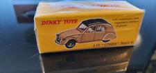 Atlas Reproduction Dinky Toys N°558 Citroën 2CV crème et marron