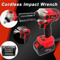 "1/2"" Electric brushless Impact Wrench Gun Set Sockets Driver High Torque 18V 20V"