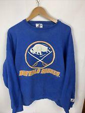 Vtg 90s Mens Logo Athletic Sz Xl Buffalo Sabres Nhl Crewneck Pullover Sweatshirt