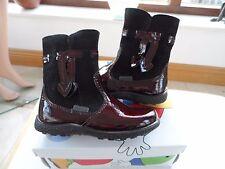 Ricosta Pepino SANJI LEATHER WATERPROOF Girls Boots MERLOT PURPLE UK 7 EU 24