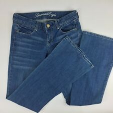 American Eagle Women's Size 6 Jeans Real Flare Med. Wash Cotton Blend