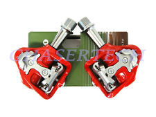 New Wellgo MG-8 Magnesium Road Bicycle Bike Clipless Pedals Cr-Mo Axle Red