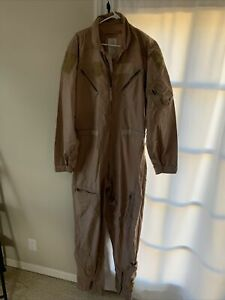 USAF Nomex CWU-27/P Flight Suit Flyers Coveralls Desert Tan 46XL