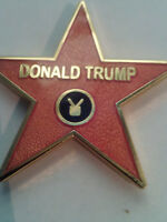 Trump Hollywood Star tie tack, lapel pin, hat pin, GIFT