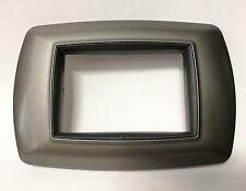 Placca Alluminio Notte Feb life 3P Compatibile con Bticino Livig International