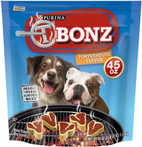 T-Bonz Porterhouse Flavor Dog Snacks 45-Ounce Pouch, Pack Of 1