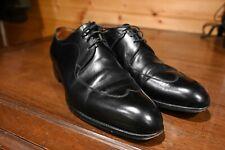 J.M. Weston Black Wing Tip Oxford Dress Shoes Size 8E EU 9 D US Made France