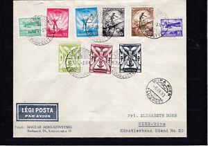 Flugpost 1933 kompletter Satz gelaufen zur WIPA 1933 nach Wien 502 - 510