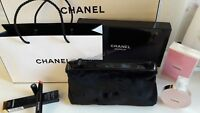 Chanel Beauty Makeup Trousse Bag Iphone Pouch Clutch Black Velvet Gift Box Paper