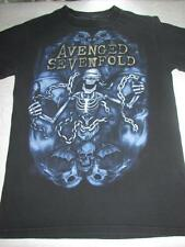 Mens AVENGED SEVENFOLD Nightmare After Christmas 2011 Tour Blk Cotton T Shirt S
