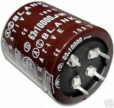 6x 10000uF 63V Snap In Mount Capacitor 10000mfd 63VDC 63 Volts 105C 10,000