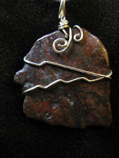 Pietersite wire wrap snake chain necklace natural stone pendant tempest radical