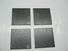 "4 STEEL  PLATES 1/4"" x 5"" x 5""  STEEL GRADE A36"