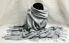 Large Gray Pashmina Tribal Ethnic Gypsy Dance Scarf Wrap Shawl Women Lady Girl