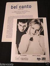 BEL CANTO 'MAGIC BOX' 1996 PRESS KIT—PHOTO