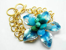 BLUE FLOWER TOGGLE BRACELET