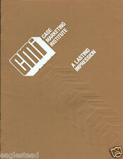 Equipment Brochure Case Marketing Institute Dealer Sales Training 1979 (E2963)