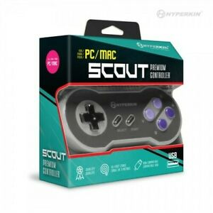 Hyperkin Scout Premium SNES-Style USB Controller for PC/ Mac [New ] PC