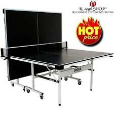 JOOLA Motion 15 Indoor Outdoor Ping Pong Table Tennis Table Black/White
