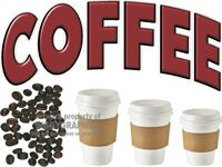 COFFEE VINYL DECAL (CHOOSE SIZE) CONCESSION STAND BOARDWALK