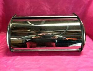 Vintage Stainless Steel Bread Box Metal Box Bread Storage - Nice!!