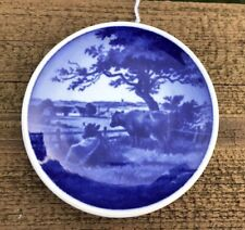 Vintage Royal Copenhagen Landscape Scene Miniature Collectible Plate Denmark Cow