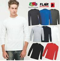 5 Pack 61038 Men's Long Sleeve Valueweight T-Shirt, S-3XL Unisex Top