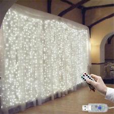 300 LED de Luces de Hadas Cadena Cortinas Ventana Twinkle Navidad Fiesta Boda Decoración