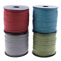 50m Reflective Guyline Outdoor Camping Tent Rope Runners Guy Line Cord W Fy