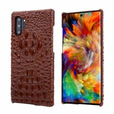 For Samsung Galaxy Note 10 Plus Back Case Luxury Real Leather Crocodile Pattern