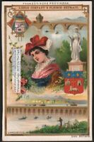 French Province Of Languedoc French Pretty c1898 Trade Ad Card