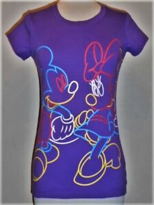 Girls soft MICKEY & MINNIE MOUSE neon sign T-shirt