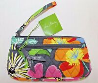 VERA BRADLEY DOUBLE ZIP WRISTLET PURSE - JAZZY BLOOMS - BRAND NEW WITH TAG