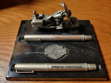 Harley Davidson Pewter Pen Set with Marble Base - Rare & Collectable New in Box
