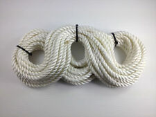 3 Strand Bianco Poliestere FUNE 21,5 m x 12 mm-ORMEGGIO FENDER FUNE Anchor 3s12