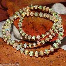 Äthiopien Opal Kette Welo Crystal Traum-Farbspiel - 925 Silber vergoldet - Herz