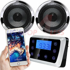 Waterproof Bluetooth Motorcycle Audio Stereo Speaker System MP3 Radio USB Harley