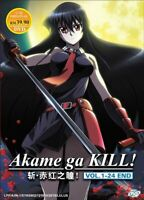 AKAME GA KILL! Complete Series (1-24 End) English Dub Ship From USA