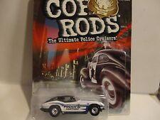 Hot Wheels Cop Rods Series 2 Hartford CT. '63 Corvette w/Real Riders