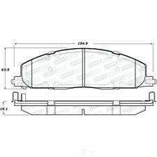 Disc Brake Pad Set-Sport Brake Pads Rear Stoptech 309.14000