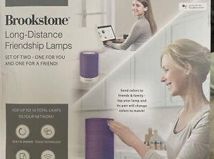 NIB Brookstone Long-Distance Friendship Lamp,Multicolors, Led,Customizable Set2