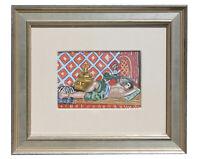 """Henri Matisse """"Odalisque sur fond rouge"""" Pochoir Hand Painted COA Signed 1929"""
