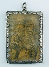 Museales Silber Breverl ungeöff. Amulett Klosterarbeit orig. 18.Jh. Barock