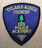 CA Tulare-Kings Counties California COS Police Academy Patch