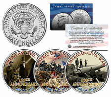 CIVIL WAR * 150th Anniversary * 1864-2014 JFK Kennedy Half Dollar US 3-Coin Set