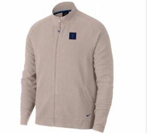 New Roger Federer RF Nike Pink Rose Dust Tennis Sweatshirt Zipper Jacket Size XL